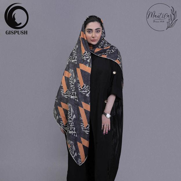 روسری کشمیر رزیتا مشکی نارنجی گیسپوش