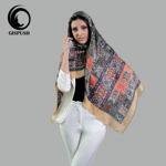 روسری خردلی سنتی گیس پوش