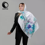 Picture of ice flower silk satin scarf