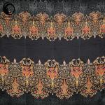 روسری دورحاشیه طرحدار مشکی