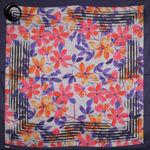 روسری ابریشم طرح گل آبی گلبه ای گیسپوش