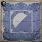 روسری ابریشم مامی موجی آبی کدر گیسپوش