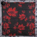 روسری ابریشم خزان قرمز مشکی گیسپوش