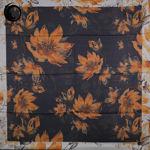 روسری ابریشم خزان نارنجی مشکی گیسپوش