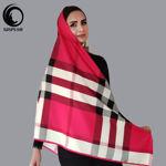 روسری مجلسی قرمز بربری ابریشم توییل گیسپوش