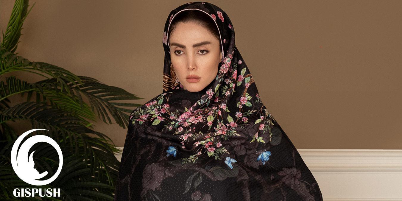 مدل بستن روسری مشکی برای محرم