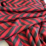 شال موهر مشکی قرمز برند ورساچه گیسپوش