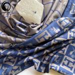 شال موهر سرمه ای طوسی برند هرمس گیسپوش