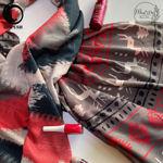 شال موهر قرمز طوسی کرم برند ابرکرومبی گیسپوش