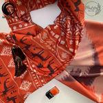 شال موهر نارنجی برند ابرکرومبی اسپرت گیسپوش