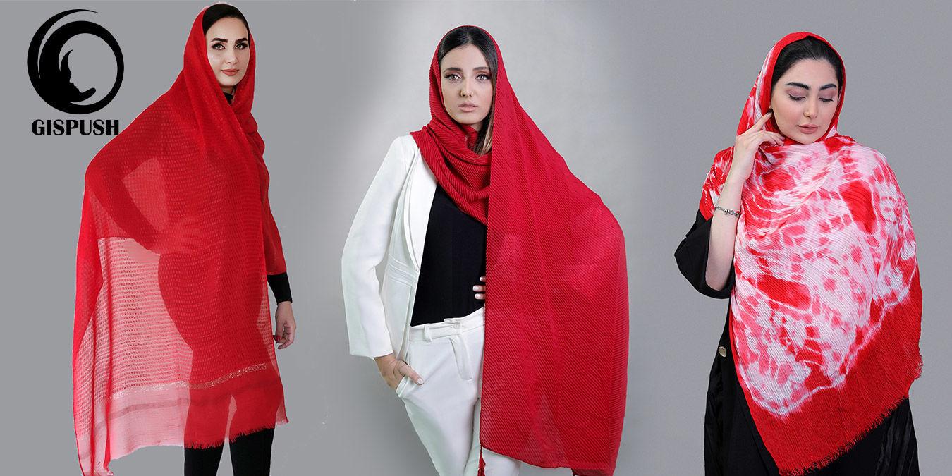 شال و روسری قرمز را با چه مانتویی و کجا بپوشیم؟