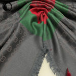شال طوسی قرمز موهر کشمیربرند گوچی گیسپوش